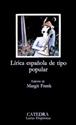 Imagen de Lírica Española De Tipo Popular: Edad Media Y Renacimiento